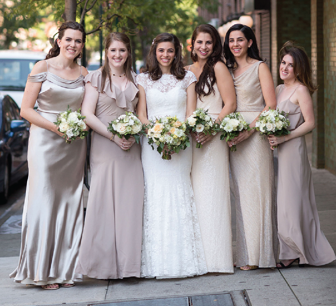 Traditional Jewish Ceremony + Romantic Yellow Reception in NYC