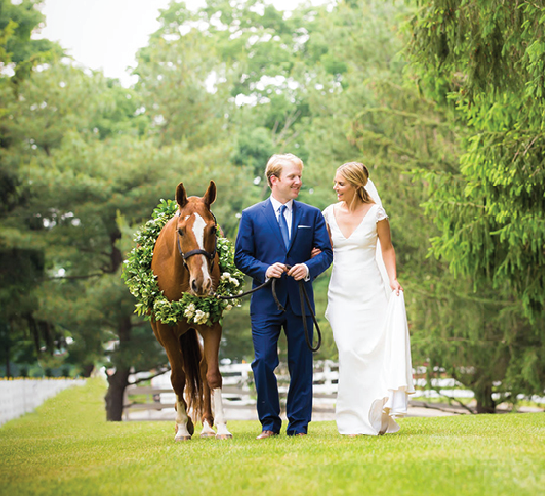 Tented Backyard Wedding with Equestrian Details at a Family Farm